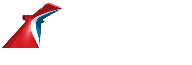 Carnival choose fun logo in white with red funnel